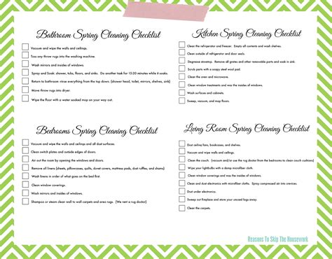 spring cleaning list lazy girl s spring cleaning checklist free printable