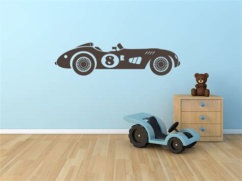 racing car wall stickers race car wall decal vintage race car for boys or by stickerhog