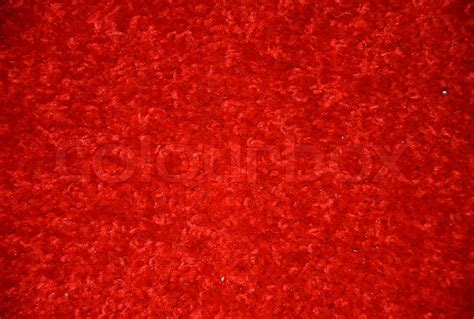 Red carpet on the floor   Stock Photo   Colourbox