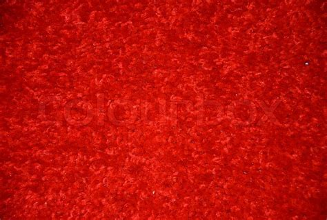Red carpet on the floor   Stock Photo   Colourbox