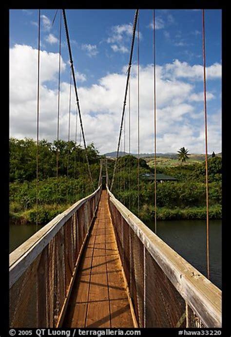 swinging bridge kauai picture photo wooden swinging bridge hanapepe kauai