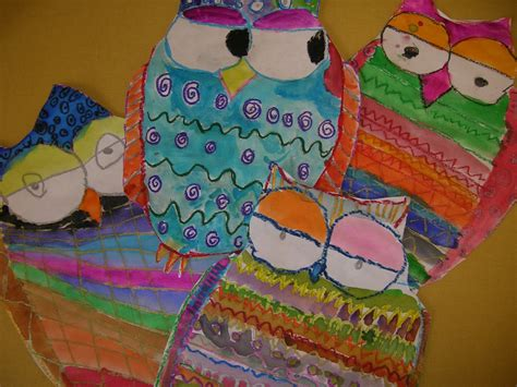pattern art lesson grade 1 the elementary art room pattern owls