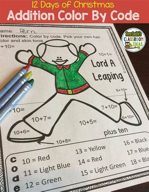 12 days of christmas ideas for work 1771 best addition activities for k 3rd grade images on addition activities