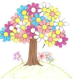 Dltk Kids Crafts Spring Tree Use Foam Flower Shapes For The Children To Glue Onto A Tree Dtlk Crafts