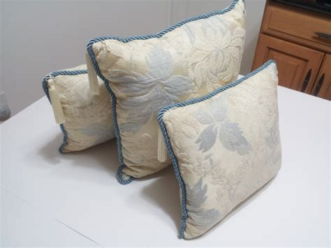 blue throws for sofas pillows cushions set of 3 blue throw sofa couch brocade