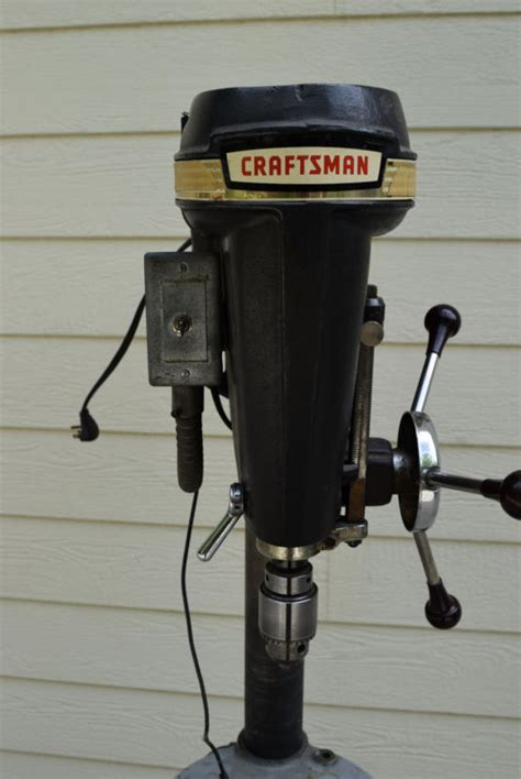 1950 craftsman floor standing drill press vintage drills shop collectibles daily