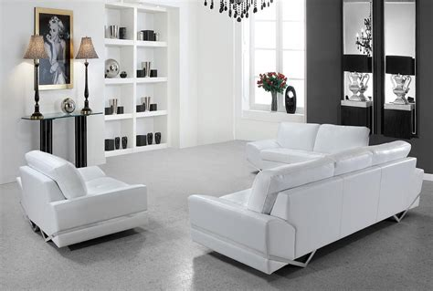 white leather sofa set white modern sofa set vg 74 leather sofas