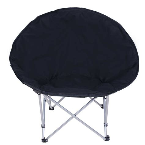 Folding Living Room Chair Microsuede Folding Padded Saucer Moon Chair Lagre Oversized Living Room Seating Ebay
