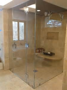 42 Inch Bathroom Vanity Combo Frameless Steam Shower Enclosure Traditional Steam
