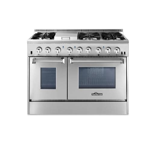 thor kitchen 48 in 6 7 cu ft dual fuel range in