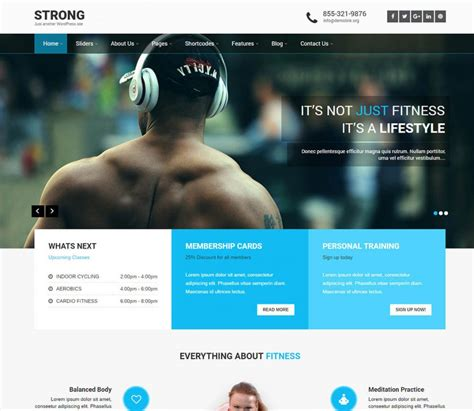 wordpress themes free blog personal 10 best free responsive fitness wordpress themes