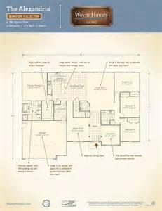 wayne home floor plans ranch house custom home floor plans the alexandria wayne homes