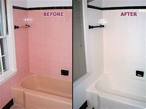 renew bathtub refinishing pink tub tile before after from renew kitchen bath