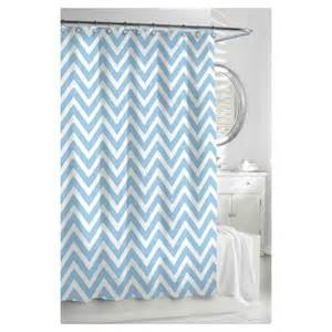 kassatex chevron shower curtain spa blue white target