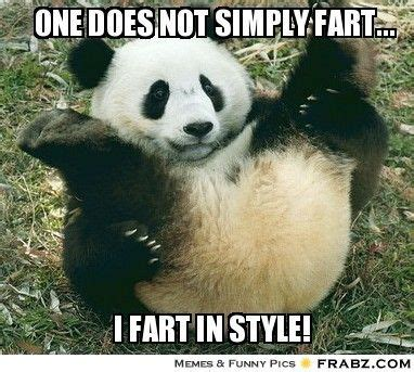 one does not simply fart rolling panda meme
