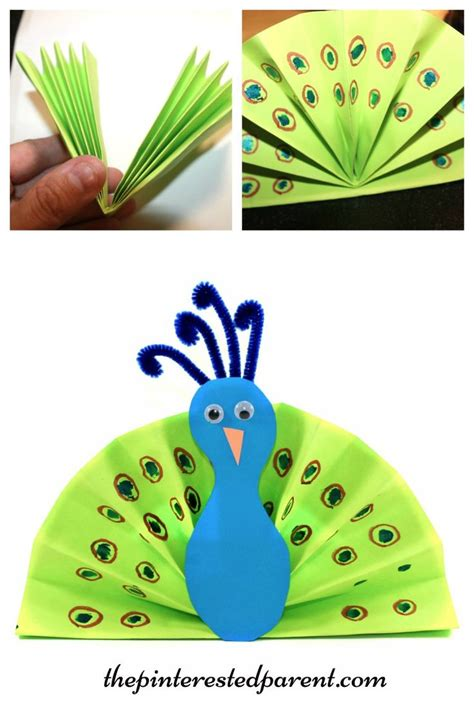 Arts And Craft With Paper - 25 best ideas about peacock crafts on paint