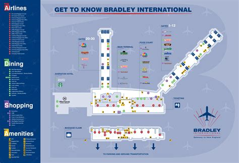map airports maps bradley international airport