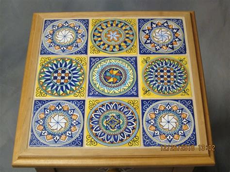 ceramic tile inlay table finewoodworking