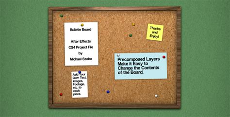 cork bulletin board project by bigmikedesign videohive