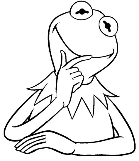 silly frog coloring page kermit the frog funny sesame street coloring pages