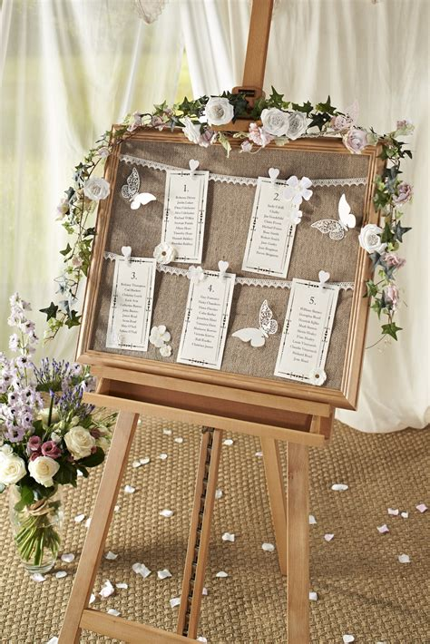 Handmade Table Decorations For Weddings - diy vintage wedding table chart hobbycraft