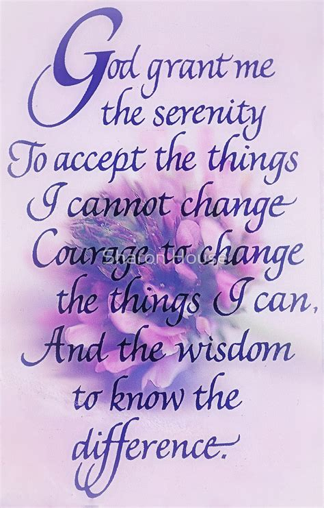 Angel Home Decor by Quot Serenity Prayer Quot By Sharon House Redbubble