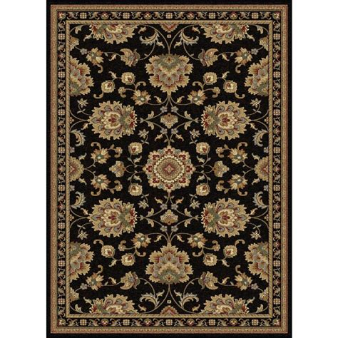 rugs black tayse rugs sensation black 5 ft 3 in x 7 ft 3 in traditional area rug 4853 black 5x8 the