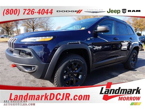 jeep trailhawk blue 2016 jeep cherokee trailhawk 4x4 in true blue pearl photo