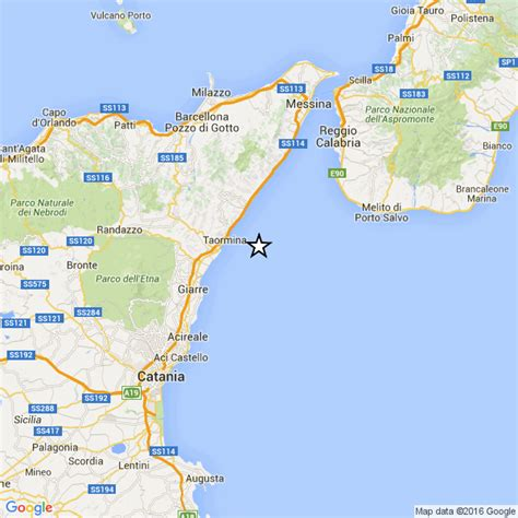 meteo mare giardini naxos sicilia scossa di terremoto avvertita fra giardini naxos