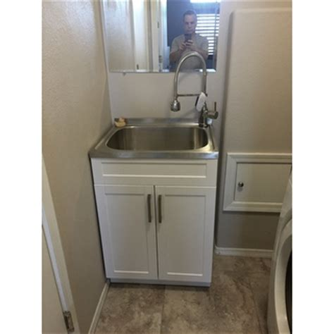 WYNDENHALL Hartland 24 inch Laundry Cabinet with Faucet