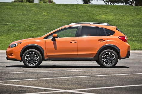 subaru orange crosstrek 2013 subaru crosstrek 2 0i limited first test motor trend