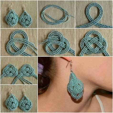 diy beautiful beautiful diy beads knot earrings jewelry designs