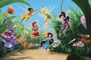 tinkerbell wall mural fairies dancing wall mural amp photo wallpaper photowall