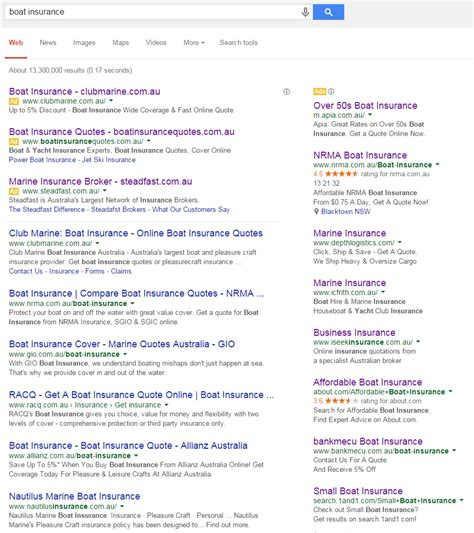boat insurance review a review of boat insurance advertisers on google adwords