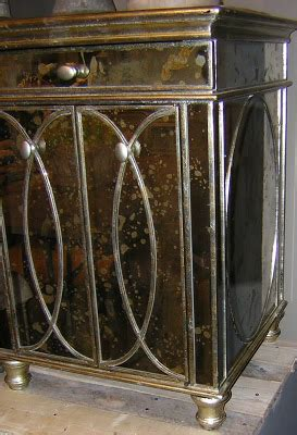 Antiqued Mirrored Nightstand by J Covington Design An Antiqued Mirror Nightstand