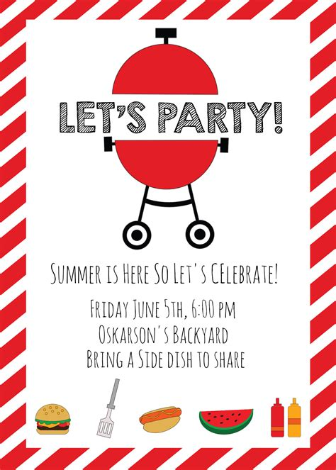 Summer Bbq Invitations And Ideas Summer Bbq Invite Template
