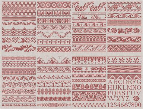 pattern english french 50 french english border designs instant download pdf