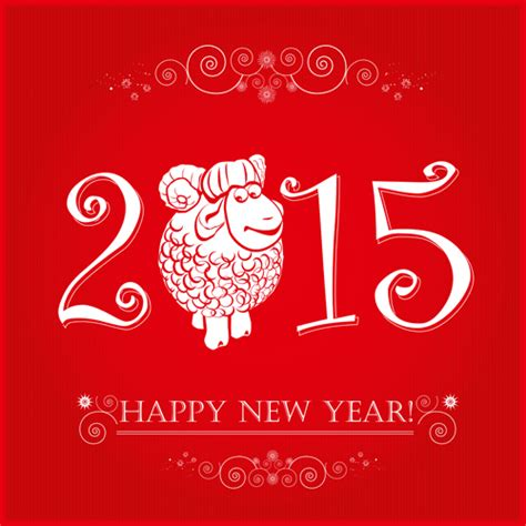 name of the new year 2015 vector set of 2015 sheep year background material 07