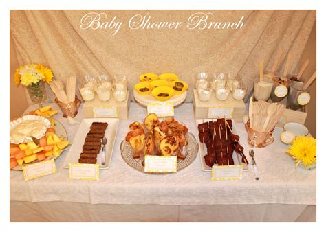 baby shower brunch menu pictures baby showers posh designs