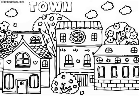 Town Coloring Page town coloring pages coloring pages to and print