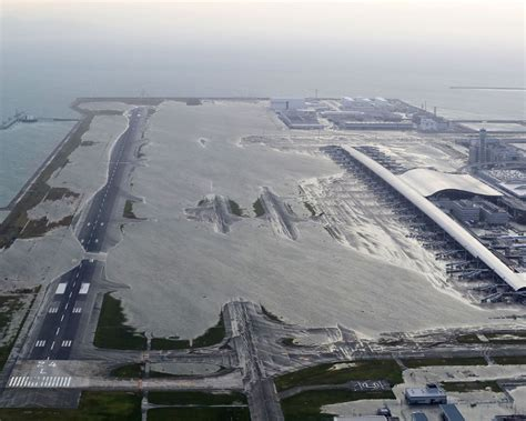 Kansai Airport Sinking by Flooded Kansai Airport Had Crucial Infrastructure On