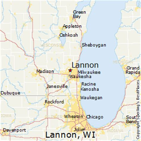 milwaukee wisconsin map best places to live in lannon wisconsin