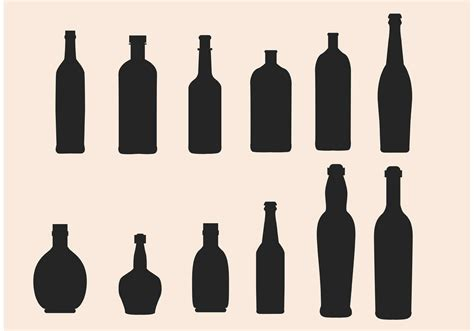wine glass silhouette glass bottle silhouette vectors download free vector art