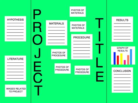 layout project names science fair title placement