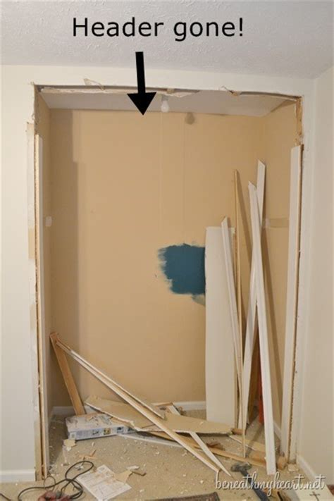How To Remove A Closet Door Craft Closet Makeover Beneath My