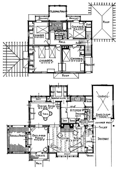 floor plan clip art vintage homes with attached garages free vintage image