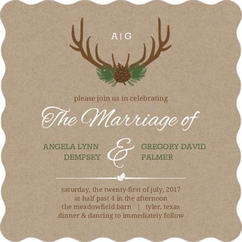 deer wedding invitations rustic deer antlers wedding invitation rustic wedding