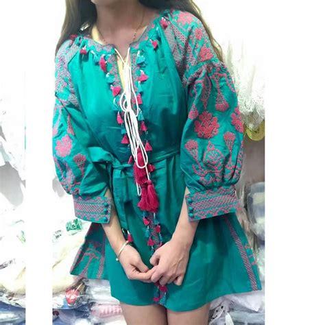 ethnic embroidery dress print dresses new 2016