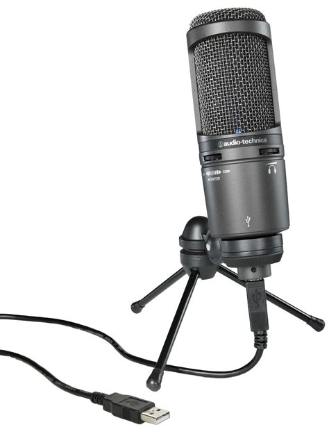 Audio Technica At2020 Usb audio technica at2020 usb condenser microphone with mount