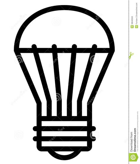 do led lights draw less s led light icon stock vector image of idea